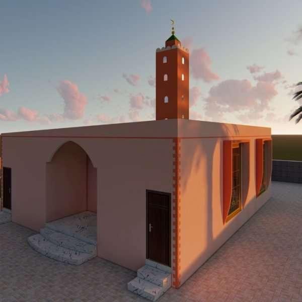 prefab mosque designin the UAE